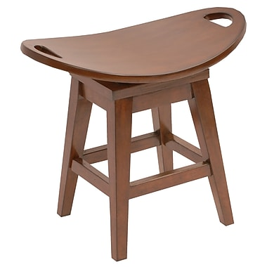 Carolina Accents Thoroughbred 20.38'' Swivel Bar Stool; Cherry