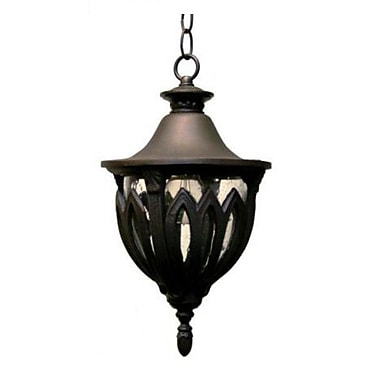 Melissa Tuscany 4-Light Outdoor Pendant; Rusty Nail