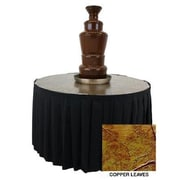 Buffet Enhancements Metallic Chocolate Fountain Table; Black
