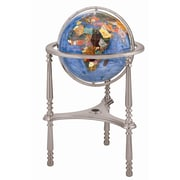 Alexander Kalifano 13'' Ambassador Marine Blue Globe with Three Leg High Stand in Silver
