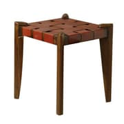 William Sheppee 18'' Bar Stool; Red Leather