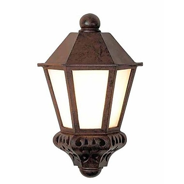 Melissa Tuscany 1 Light Outdoor Flush Mount; Patina Bronze