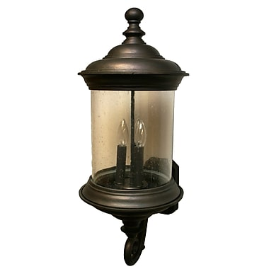 Melissa Tuscany 4 Light Outdoor Sconce; Black