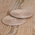 Saro Cabana Coaster (Set of 6); Taupe