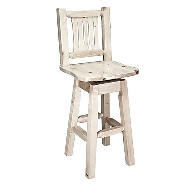 Montana Woodworks Homestead 30'' Swivel Bar Stool; Lacquered