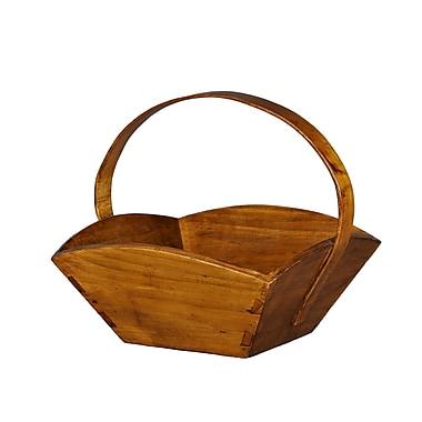 Antique Revival Fruit Basket w/ Handle; Natural