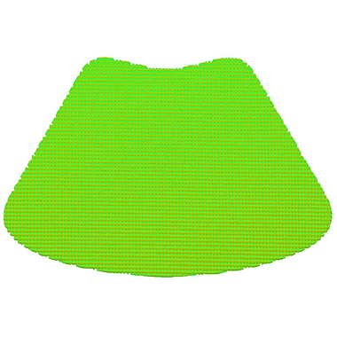 Kraftware Fishnet Wedge Placemat (Set of 12); Lime Green