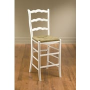 AA Importing 29'' Bar Stool with Cushion; White