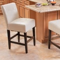 Home Loft Concept Macbeth Bar Stool with Cushion; Ivory