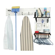 Wall Control Storage & Organization Laundry Room Organizer; White / Black