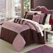 Chic Home Quincy Rose 8 Piece Comforter Set; Queen