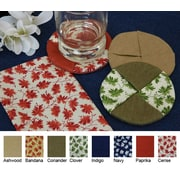 Pacific Table Linens Denim Wine Glass Coaster w/ Cercie (Set of 2); Indigo