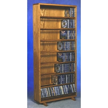 Wood Shed 800 Series 440 CD Dowel Multimedia Storage Rack; Clear