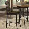 Bernards Rock Wood/Stone Bar Stool with Cushion