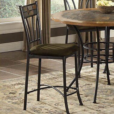 Bernards Rock Wood / Stone Bar Stool with Cushion