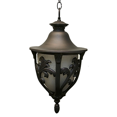 Melissa Tuscany 3 Light Outdoor Hanging Lantern; Old World