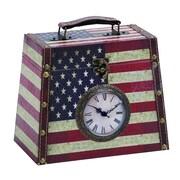 Woodland Imports Leather Clock Box