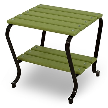 Ivy Terrace Vintage Side Table; Black/Lime