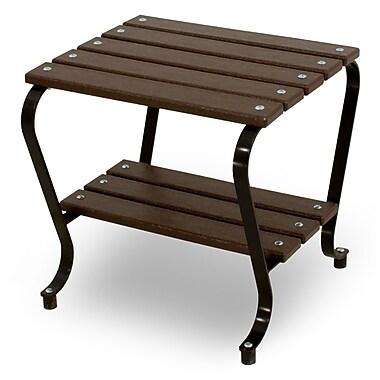 Ivy Terrace Vintage Side Table; Black/Mahogany