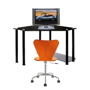 RTA Home And Office Metal Corner Computer Desk; Black
