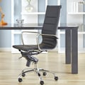 Eurostyle Owen Low-Back Leatherette Office Chair with Arms; Black