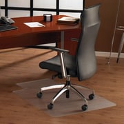 FLOORTEX Cleartex Ultimat Anti-Slip Hard Floor Lipped Edge Chair Mat; 48'' W x 60'' D