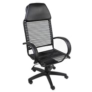 Eurostyle Bungie High-Back Flat Executive Office Chair with Arms; Black / Graphite Black