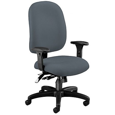 OFM Ergonomic Mid-Back Task Chair with Arms; Gray