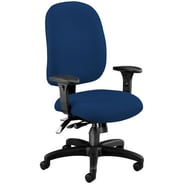 OFM Ergonomic Mid-Back Task Chair with Arms; Navy