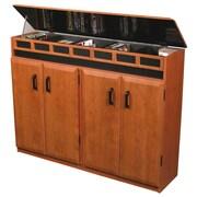 Venture Horizon VHZ Entertainment Top Load Multimedia Cabinet; Cherry