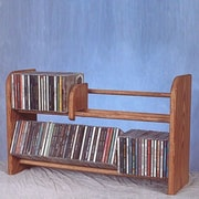 Wood Shed 200 Series 110 CD Multimedia Tabletop Storage Rack; Unfinished