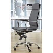 Eurostyle Gunar Pro High-Back Leatherette Office Chair with Arms; Gray