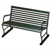 Algoma Net Company Traditional Wood and Metal Garden Bench; 48''