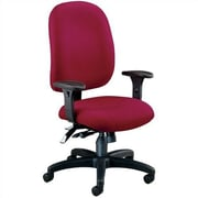 OFM Ergonomic Mid-Back Task Chair with Arms; Wine