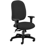 OFM Ergonomic Mid-Back Task Chair with Arms; Black