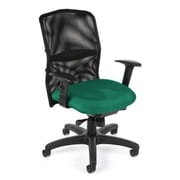 OFM High-Back Task Chair with Arms; Green