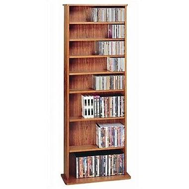 Leslie Dame Deluxe Multimedia Storage Rack; Cherry