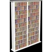 Venture Horizon VHZ Entertainment Large Double Multimedia Storage Rack; White