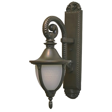 Melissa Tuscany 1-Light Outdoor Wall Lantern; Old Iron
