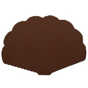 Kraftware Fishnet Shell Placemat (Set of 12); Chocolate
