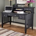 Home Styles Arts and Crafts Executive Writing Desk and Hutch; Black