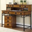 Home Styles Modern Craftsman Executive Desk with Hutch and Mobile File