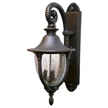 Melissa Tuscany 3 Light Outdoor Wall Lantern; Old World