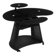 Studio Designs Neptune Computer Desk with Keyboard Shelf; Black