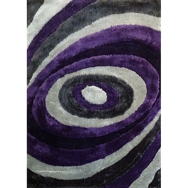 Rug Factory Plus Living Shag Purple/Gray Rug; 5' x 7'