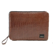 Antenna Classic Croc Matte Laptop Sleeve for Macbook; Brown