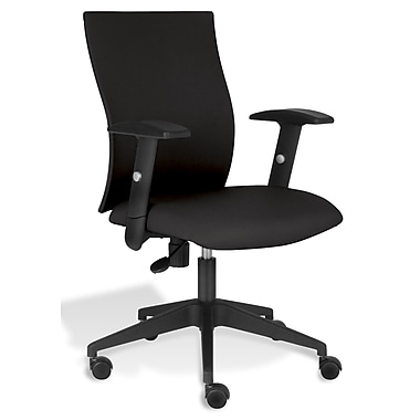 Jesper Office Jesper Office Kaja Office Chair with Arms; Black Fabric