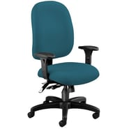 OFM Ergonomic Mid-Back Task Chair with Arms; Teal