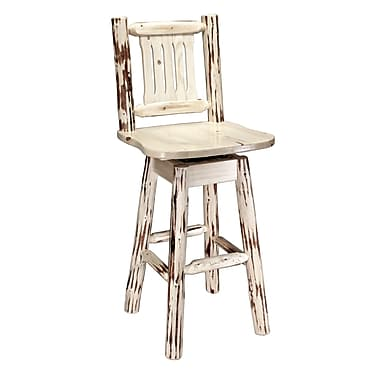 Montana Woodworks  Montana 30'' Swivel Bar Stool; Ready To Finish