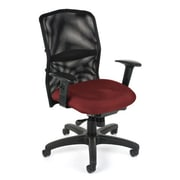 OFM High-Back Task Chair with Arms; Burgundy